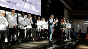 premiazione del Best Plate Challenge 2018 della World Gourmet Society a Montecarlo con il presidente Matthias tesi Baur
