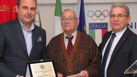 """Premio dirigente dell'anno 2018 a Massimo Bardazzipresidente della""""Liberi e Forti"""""""