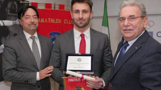 Panathlon premi per lo sport. Altro premiato il direttore di gara di calcio Mirko Borghi